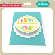 A2 Pop Up Round Cake Card