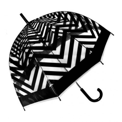 Metro Black Clear Umbrella