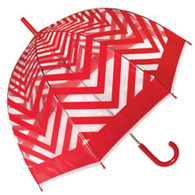 Metro Red Clear Umbrella