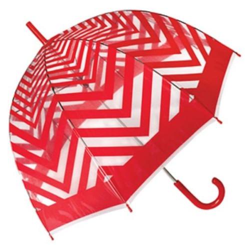 Metro Red Clear Umbrella