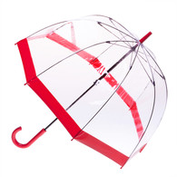 Clear with Red Trim Umbrella