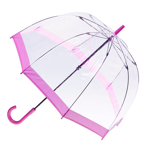 Clear with Pink Trim Umbrella