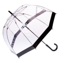 Clear with Black Trim Umbrella