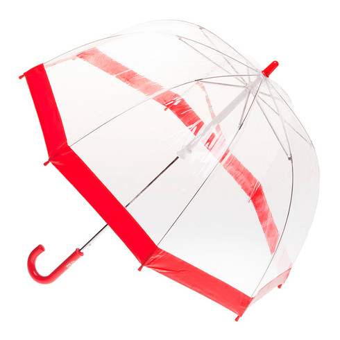 Child's Clear with Red Trim Umbrella