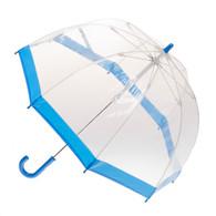 Child's Clear with Blue Trim Umbrella