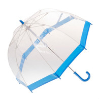 Child's Clear with Blue Trim Umbrella | Kids Umbrella