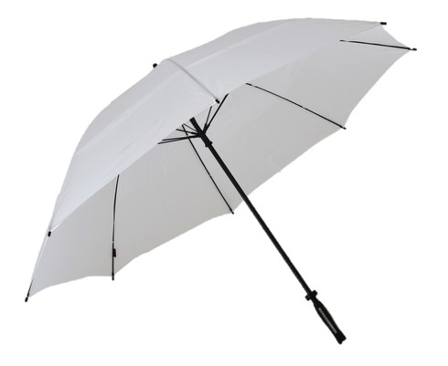 White Vented Golf Umbrella Side