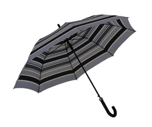Grey Stripes Umbrella Side