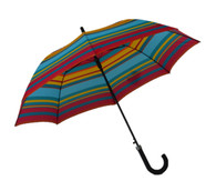 Yellow Red Blue Stripes Umbrella Side
