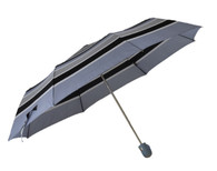 Compact Grey Stripes Umbrella Side