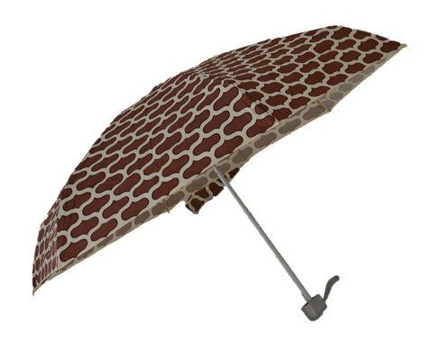 Compact Moroccan Brown Umbrella Side