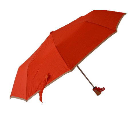 Compact Red Umbrella Side
