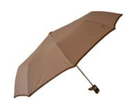 Compact Beige Umbrella Side