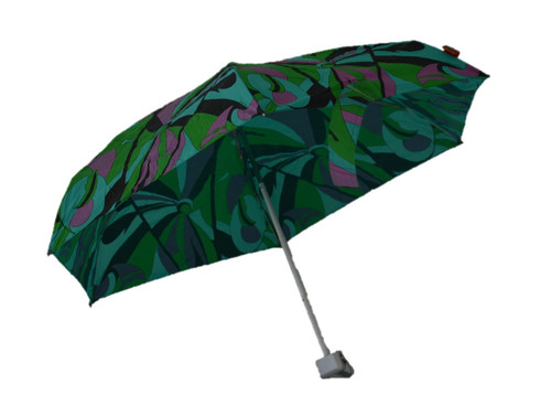 Compact Retro Ribbon Umbrella Side