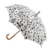 Classic Grey & White Flower Umbrella