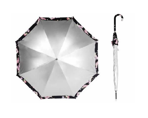 Silver Top /Cherry Blossom  Underside Umbrella UPF50+