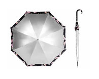 Silver Top /Cherry Blossom  Underside Umbrella UPF50+