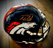 Tim Tebow Autographed Denver Broncos Speed Replica Helmet With