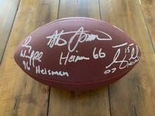 Tim Tebow Steve Spurrier Danny Wuerffel Autographed NCAA Heisman Football