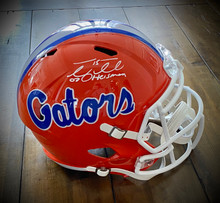 Tim Tebow Autographed Florida Gators Speed Replica Helmet With 07 Heisman