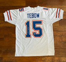 Tim Tebow Autographed White Florida Gators Jersey