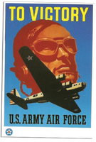 To Victory U.S. Army Air Force Poster