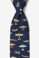 Vintage Warplane Necktie Black
