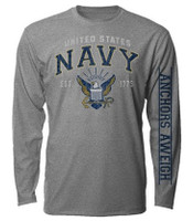 U.S. Long Sleeve Navy T-Shirt