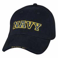 Navy Lettering Baseball Hat