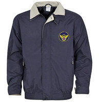 8th Logo Golf Jacket Navy/Khaki