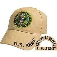 United States Army U.S. Army Round Logo (Khaki) Baseball Cap