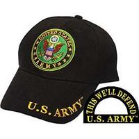 United States Army U.S. Army Round Logo (Black) Baseball Cap