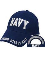 NAVY (Bold Letters) Baseball Cap - Navy