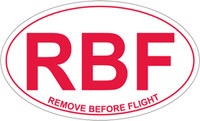 RBF (Remove Before Flight) Euro Sticker