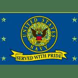 USN SERVED WITH PRIDE FLAG
