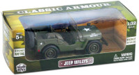 Classic Armour WWII Willys Jeep 1/32 Scale Diecast Model Kit