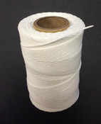 Lacing Cord - 9 Ply White, Waxed Polyester, 8oz, 175 Yards