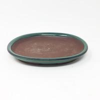 """5 1/2"""" Ceramic Humidity Tray and River Rocks (Oval)"""