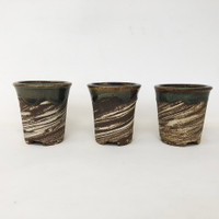 Set of 3 Tokoname Bonsai Pot (TK-815)