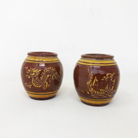 Set of 2 - Bamboo Flower Pots (TK-843)