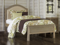 Seaview Upholstered Bed Twin Driftwood