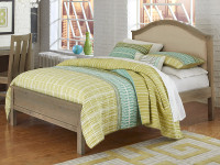 Seaview Upholstered Bed Full Driftwood