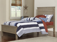 Seaview Panel Bed Twin Driftwood