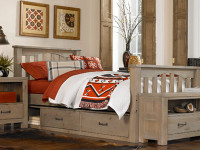 Seaview Slatted Bed Twin Driftwood