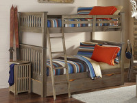 (pictured) Seaview Twin over Twin Bunk Bed Driftwood