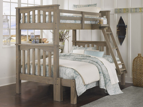Seaview Twin over Full Bunk Bed Driftwood