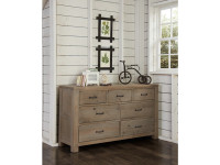 Seaview 7 Drawer Dresser & Mirror