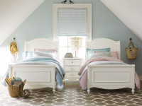 Ivy Sleigh Bed (Twin) with Ivy Night Stand