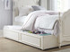 Ivy Low Poster Bed (Twin) - Pictured with optional Trundle Storage Unit