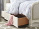 Ivy Upholstered Bed with optional Underbed Storage Unit
